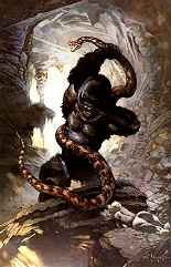 Kong's Lair by Frank Frazetta